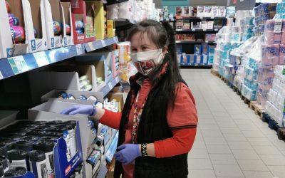 Raluca, angajata cu Sindrom Down de la hipermarketul din Cluj