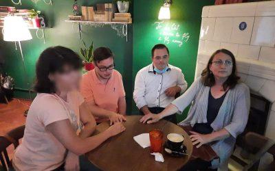 Retro Cafe din Iași, alături de tinerii cu Sindrom Down din proiectul nostru